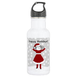 Tattle's Happy Holidays Collection Stainless Steel Water Bottle