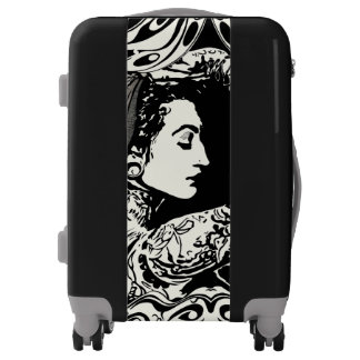 Tattoed gypsy suitcase luggage