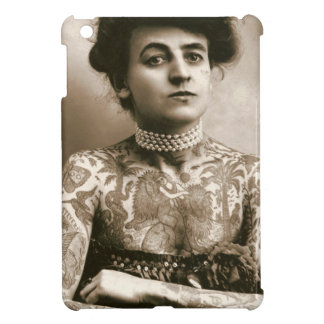 Tattoed With Pearls, Victorian Circus Photo Case For The iPad Mini