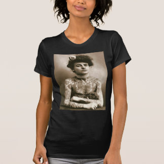 Tattoed With Pearls, Victorian Circus Photo T-Shirt