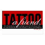 tattoo a friend referral program Double-Sided standard business cards (Pack of 100)