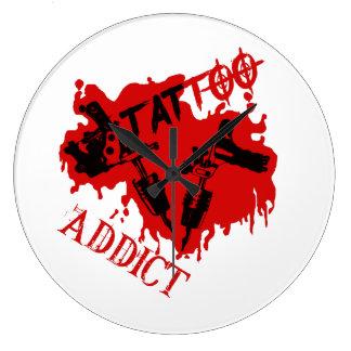 Tattoo addicted clock