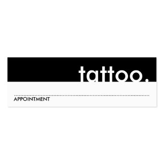 tattoo. (appointment card) mini business card