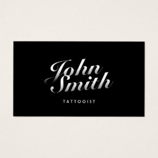 Tattoo business cards templates zazzle tattoo art dark stylish calligraphic business card fbccfo Gallery