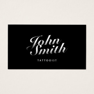 Tattoo Art Dark Stylish Calligraphic Business Card
