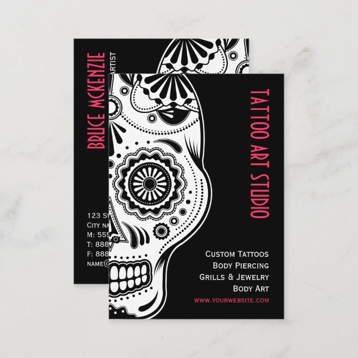 Tattoo Art Studio Business Card Zazzle Com