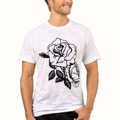 Tattoo Art Style Rose vintage white mens tshirt by TronRx