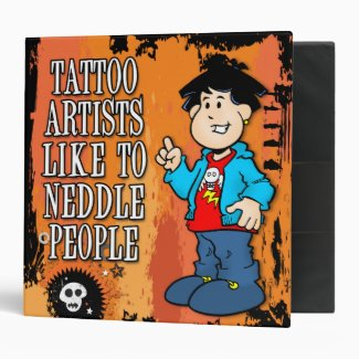 Tattoo Artist 3 Ring Binder