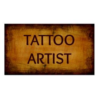 Tattoo Artist Antique Wood Business Card
