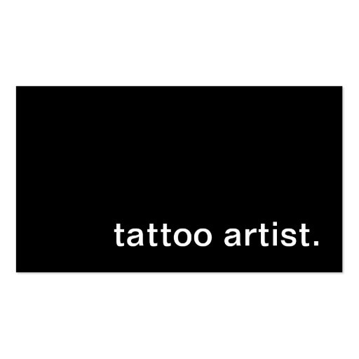 Tattoo artist business card zazzle for Tattoo business cards templates free