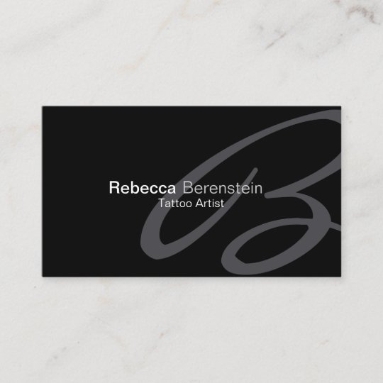 tattoo artist business card fancy monogram - Fancy Business Cards