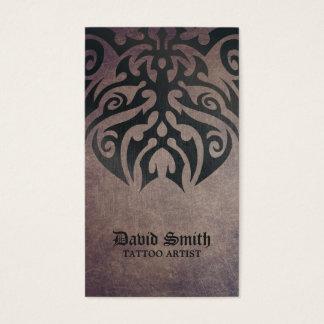 Tattoo Artist Cool Tribal Tattoo Vintage Business Card