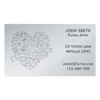 Tattoo Artist Ink Artist Tattoo Parlour Business Cards