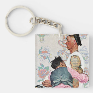 Tattoo Artist Double-Sided Square Acrylic Keychain