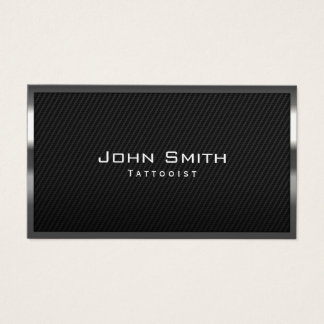 Tattoo Artist Professional Black Carbon Fiber Business Card