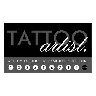 tattoo artist rewards program business card
