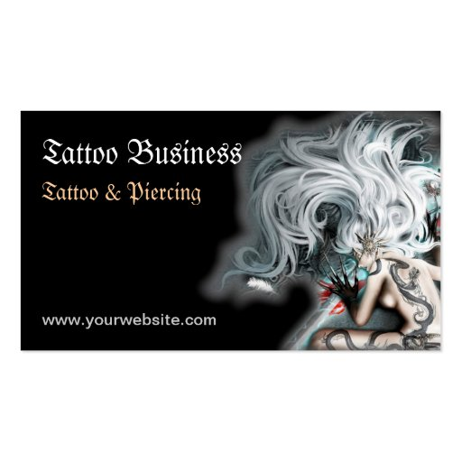 Tattoo artist salon business card zazzle for Business card size tattoos
