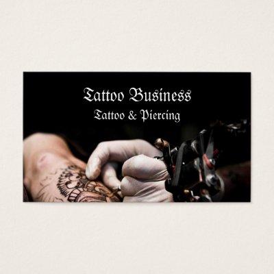 Tattoo Artist Design Body Business Card | Zazzle.com