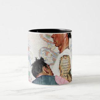 Tattoo Artist Two-Tone Coffee Mug