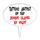 Tattoo Artist Zombie Slayer Cake Toppers