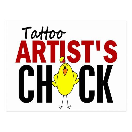 Tattoo Artist's Chick Post Card