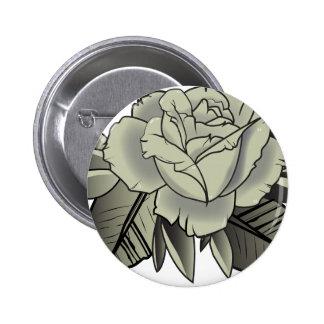 tattoo black rose button