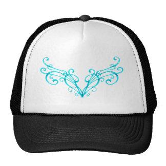 Tattoo blue heart trucker hat