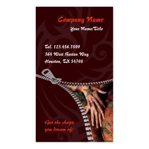 Tattoo business card zazzle for Tattoo business cards templates free