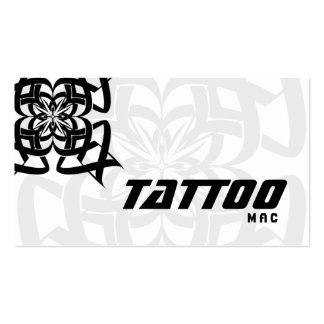 Tattoo Business Card Tribal Black