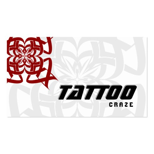 Tattoo business card tribal red white zazzle for Business card size tattoos
