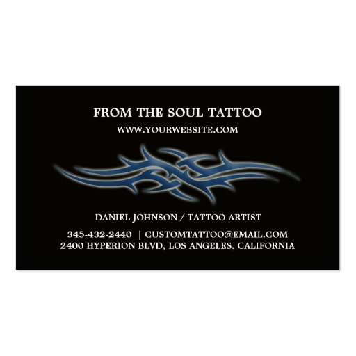 Tattoo business cards zazzle for Tattoo business card templates