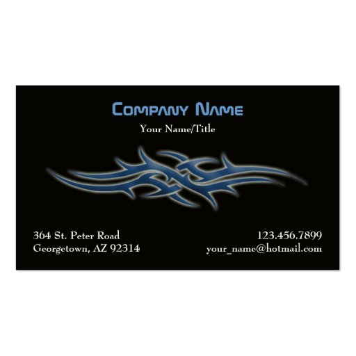 Tattoo business cards zazzle for Business card size tattoos