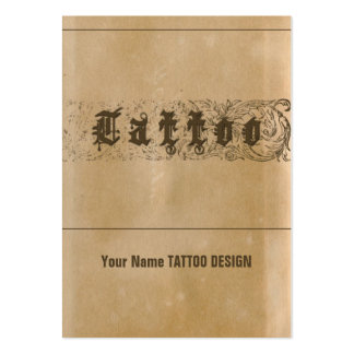 TATTOO - Business, Schedule Card Large Business Card