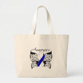 Tattoo Butterfly Awareness - ALS Disease Jumbo Tote Bag