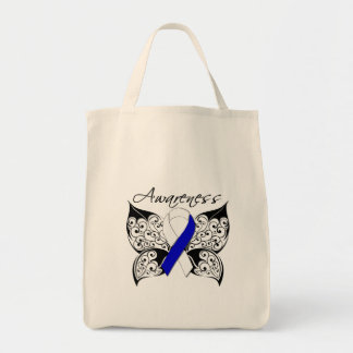 Tattoo Butterfly Awareness - ALS Disease Grocery Tote Bag