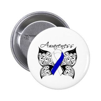 Tattoo Butterfly Awareness - ALS Disease 2 Inch Round Button
