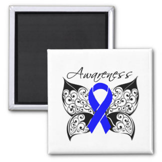 Tattoo Butterfly Awareness - Anal Cancer Refrigerator Magnets