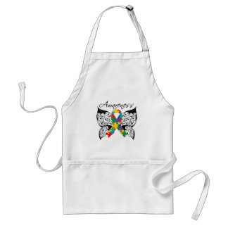 Tattoo Butterfly Awareness - Autism Apron