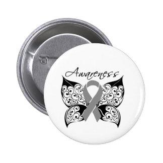 Tattoo Butterfly Awareness - Brain Cancer 2 Inch Round Button