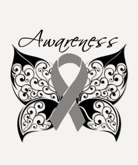 Tattoo Butterfly Awareness - Brain Tumor T-shirt