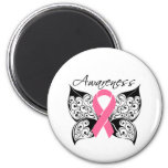 Tattoo Butterfly Awareness - Breast Cancer Refrigerator Magnet