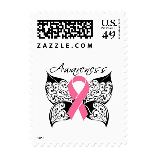 Tattoo Butterfly Awareness - Breast Cancer Stamps