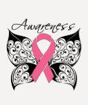 Tattoo Butterfly Awareness - Breast Cancer Tee Shirt