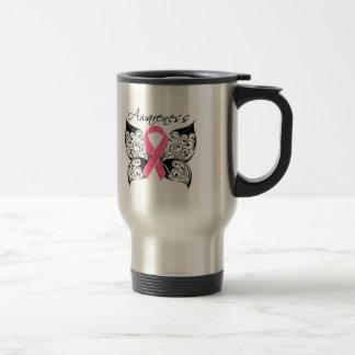 Tattoo Butterfly Awareness - Breast Cancer Travel Mug
