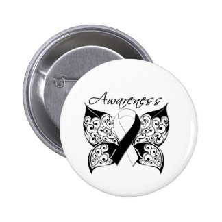 Tattoo Butterfly Awareness - Carcinoid Cancer 2 Inch Round Button