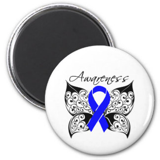 Tattoo Butterfly Awareness - Colon Cancer 2 Inch Round Magnet
