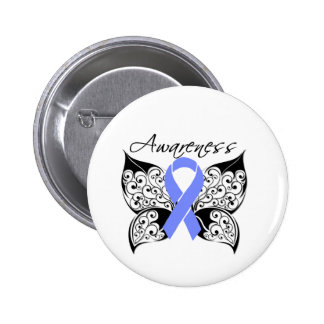 Tattoo Butterfly Awareness - Esophageal Cancer 2 Inch Round Button