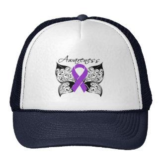 Tattoo Butterfly Awareness - Fibromyalgia Trucker Hat