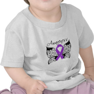 Tattoo Butterfly Awareness - Fibromyalgia T Shirt