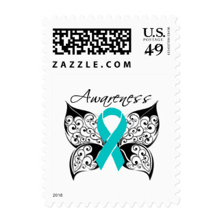 Tattoo Butterfly Awareness - Gynecologic Cancer Postage